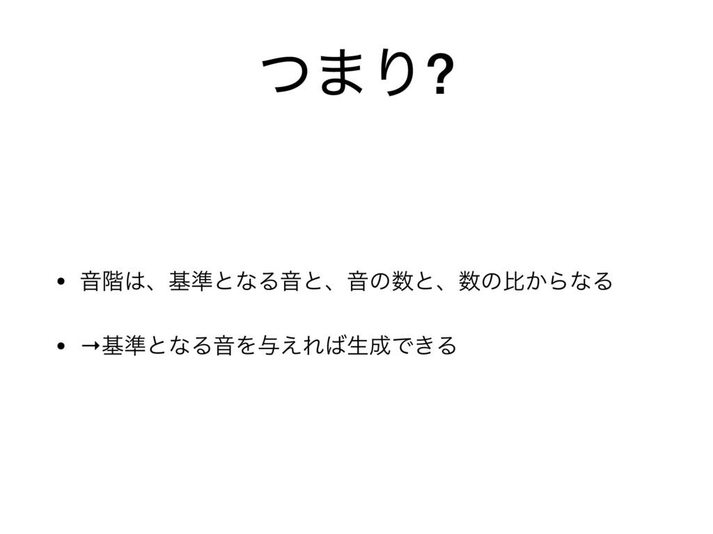 ͭ·Γ? • Ի֊ɺج४ͱͳΔԻͱɺԻͷͱɺͷൺ͔ΒͳΔ  • →ج४ͱͳΔԻΛ༩͑Ε...