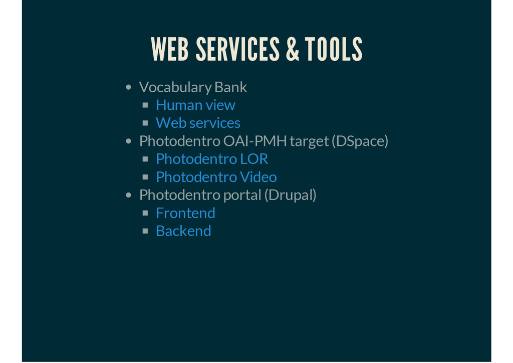 WEB SERVICES & TOOLS Vocabulary Bank Photodentr...
