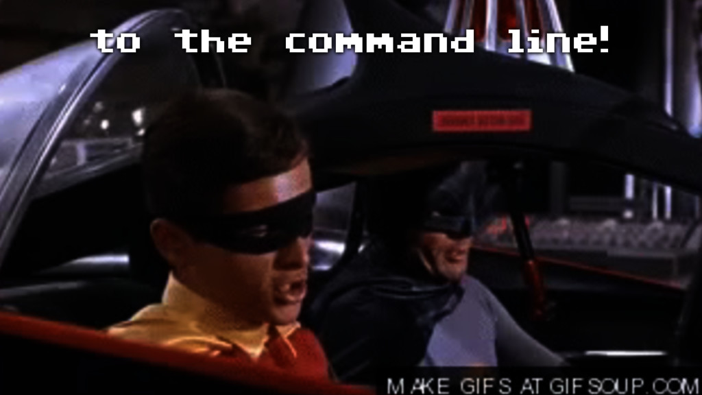 to the command line!