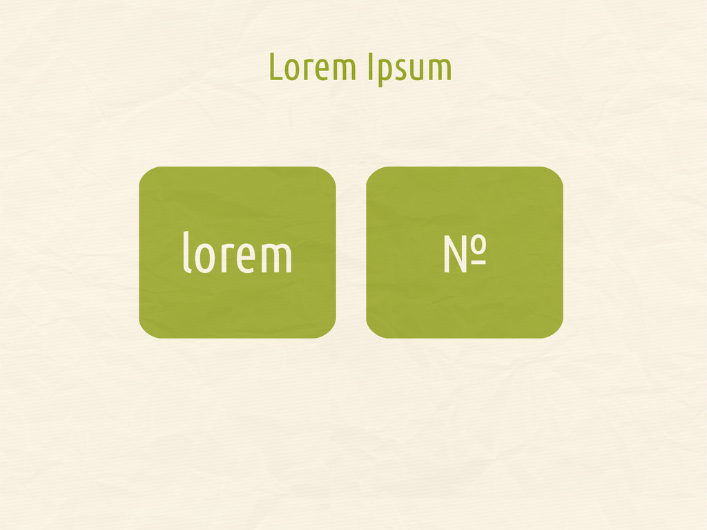 № lorem Lorem Ipsum