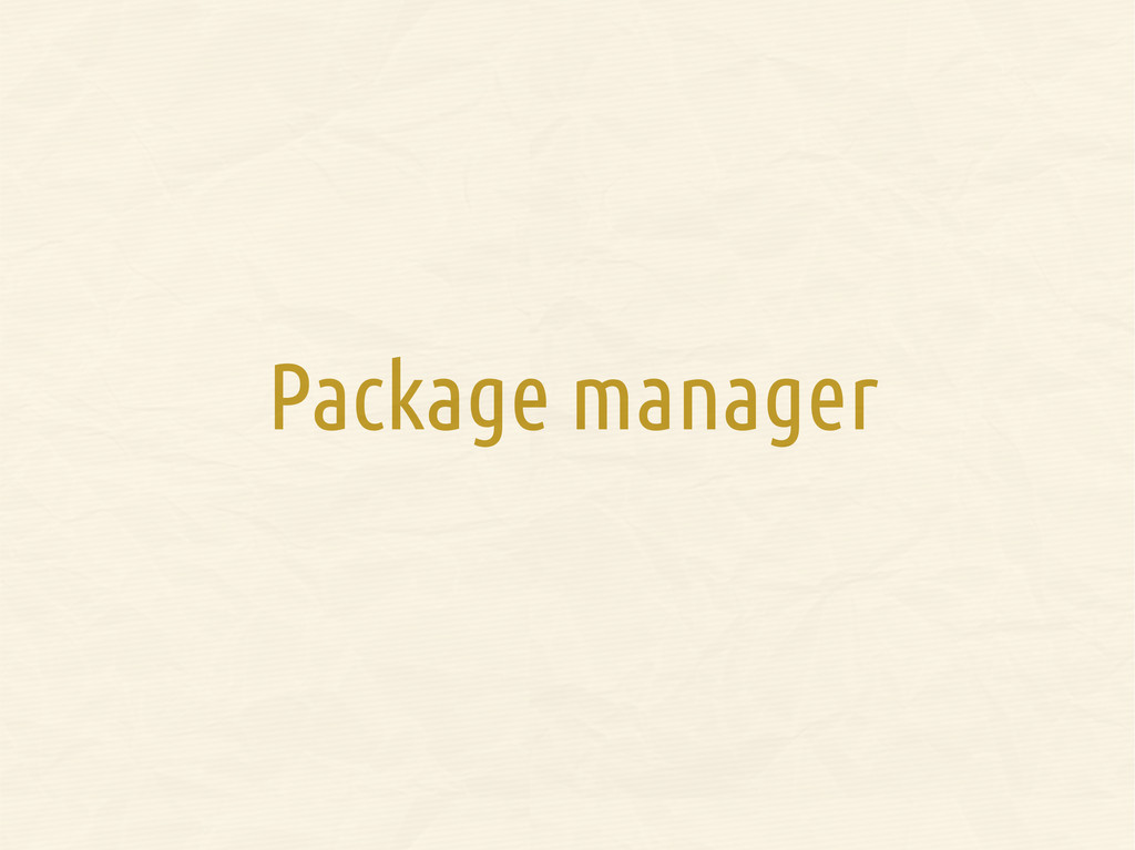 Package manager