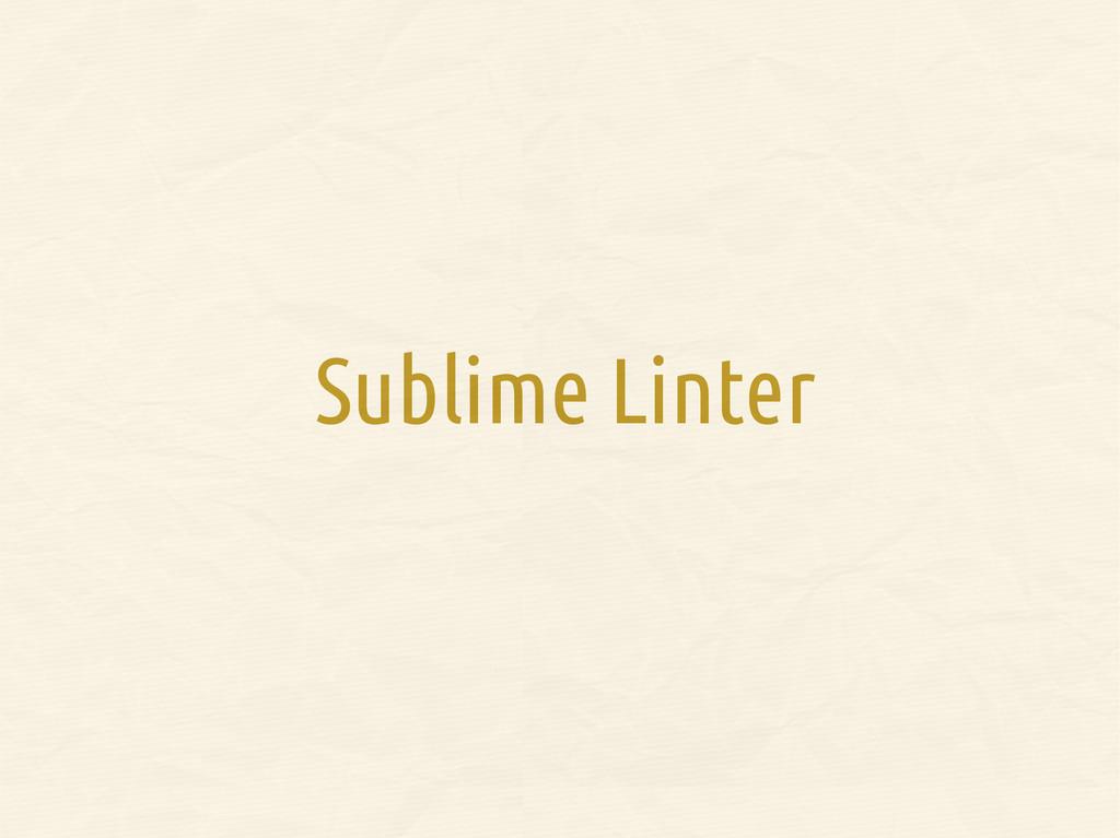 Sublime Linter