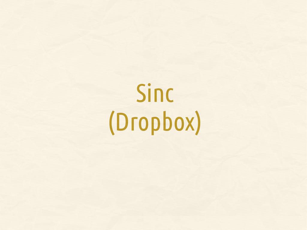 Sinc (Dropbox)