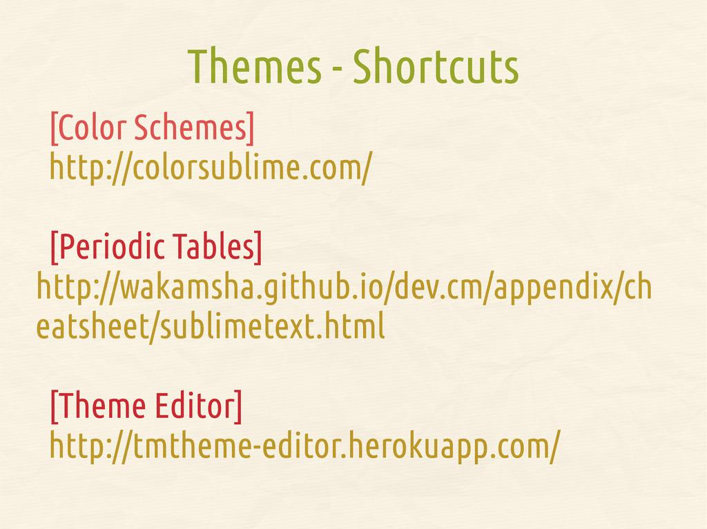 Themes - Shortcuts [Color Schemes] http://color...