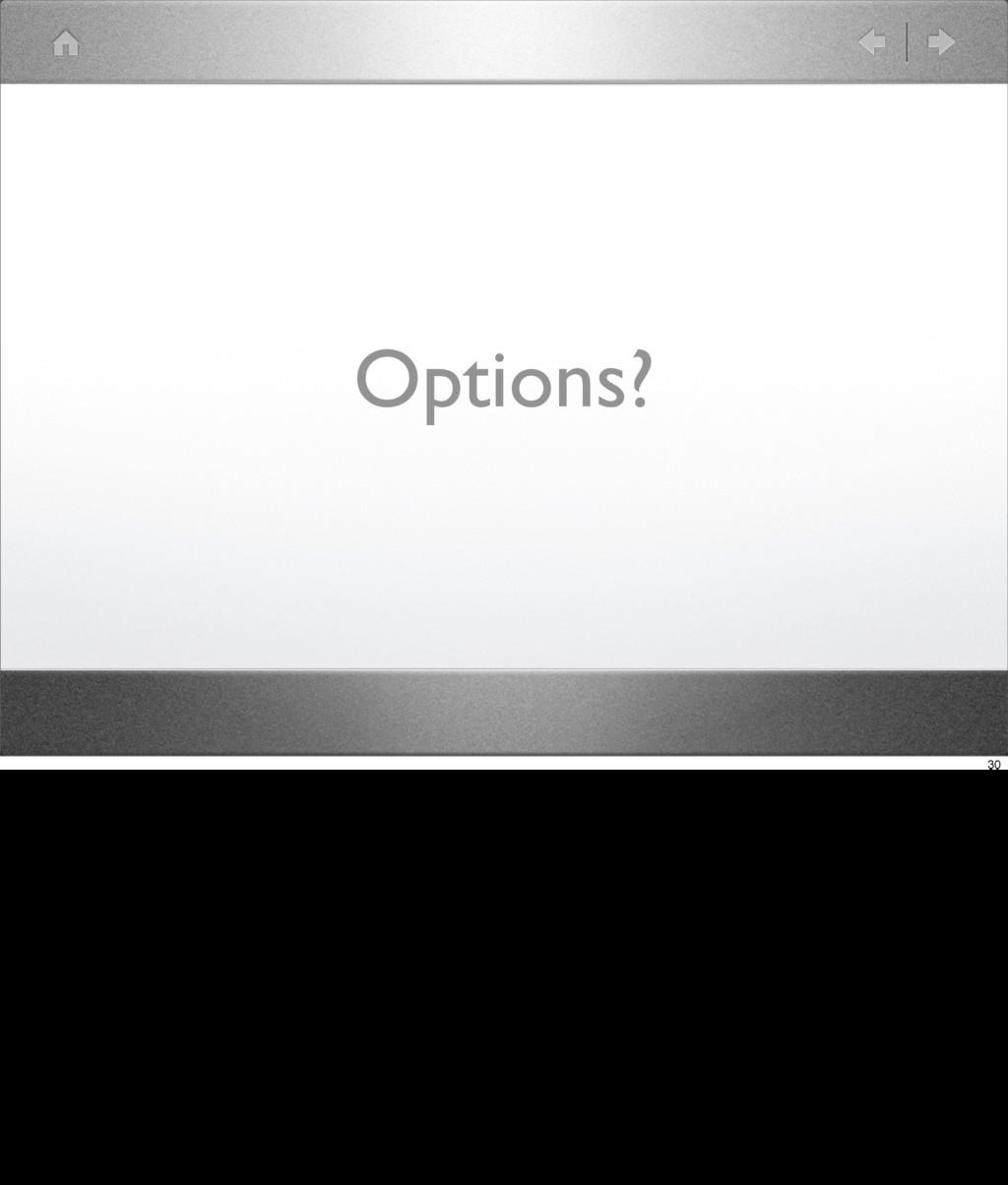 Options? 30