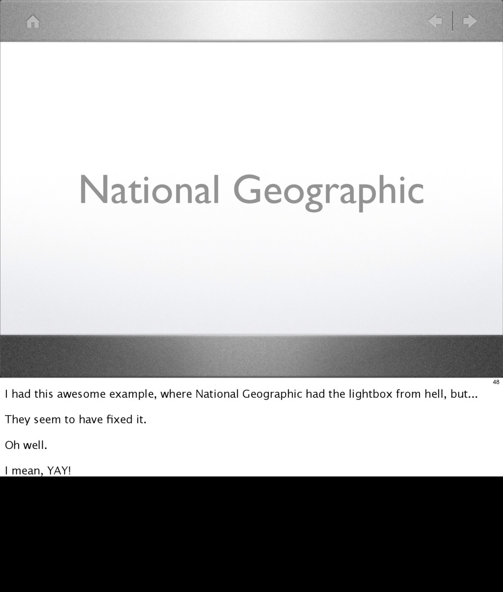 National Geographic 48 I had this awesome examp...