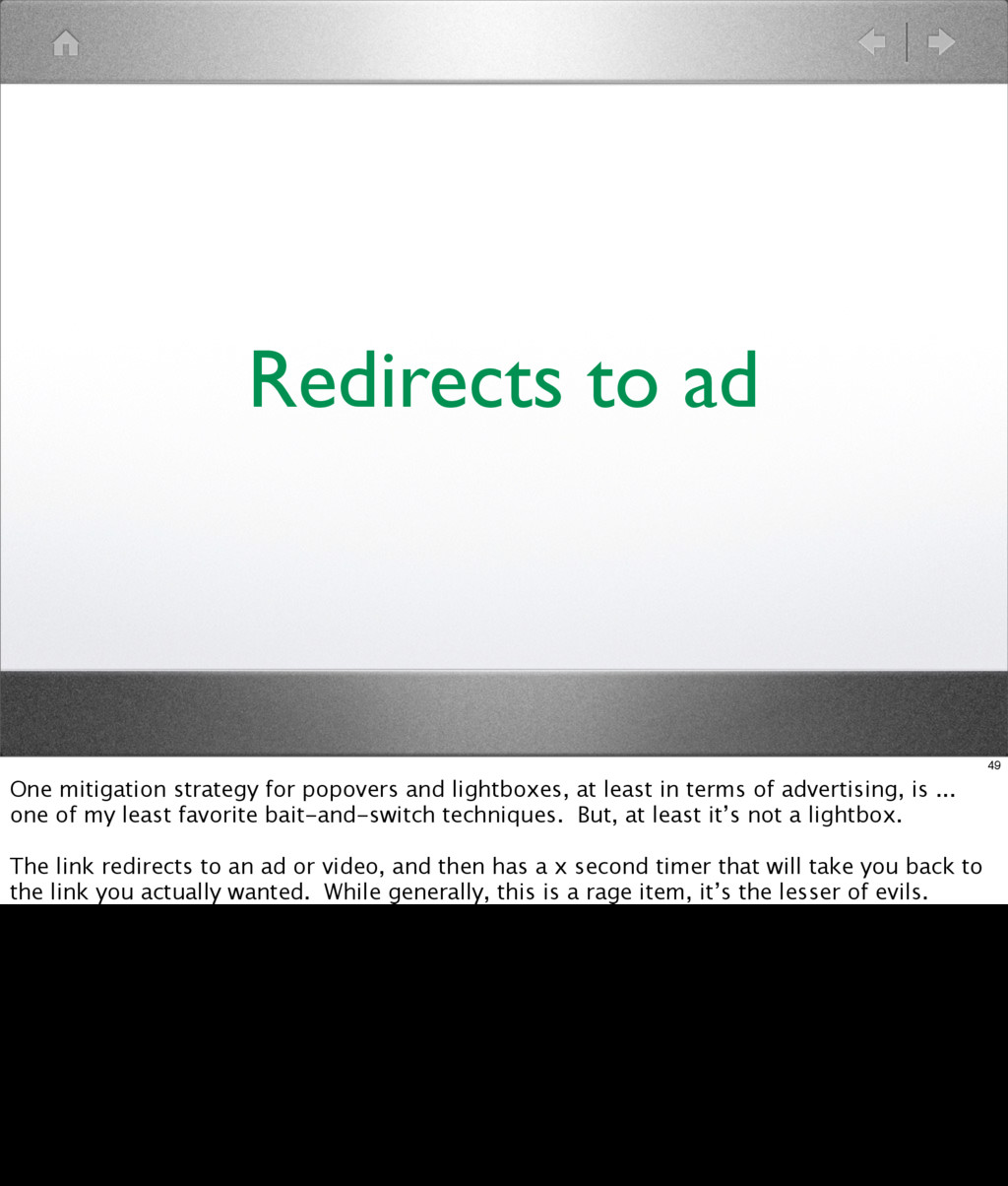 Redirects to ad 49 One mitigation strategy for ...
