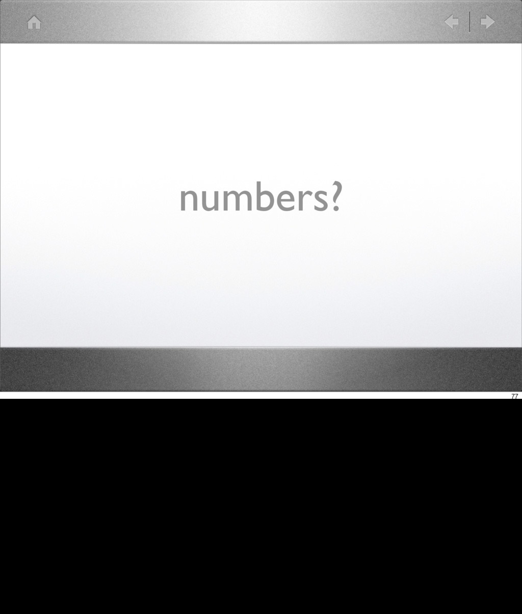numbers? 77
