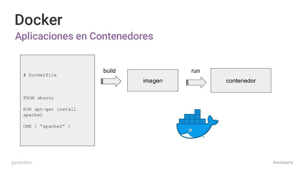 #nerdearla Docker Aplicaciones en Contenedores ...