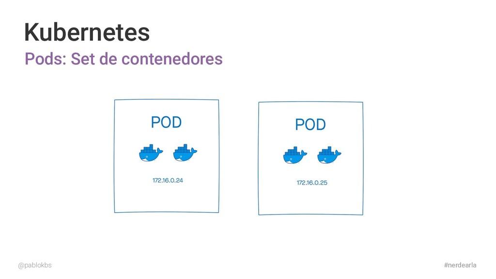 #nerdearla Kubernetes Pods: Set de contenedores...