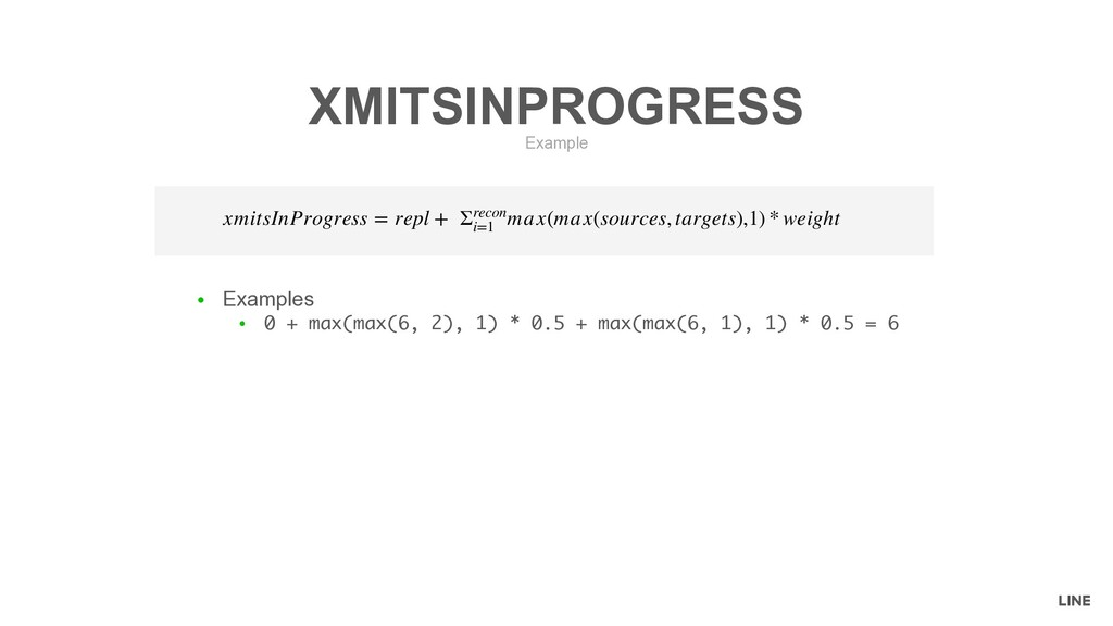 ● Examples ● 0 + max(max(6, 2), 1) * 0.5 + max(...