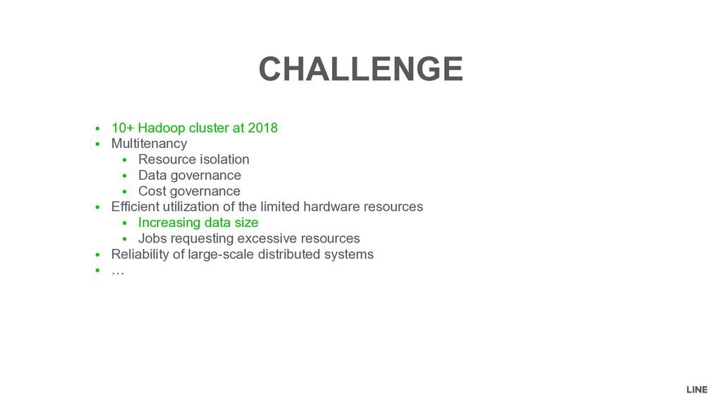 ● 10+ Hadoop cluster at 2018 ● Multitenancy ● R...