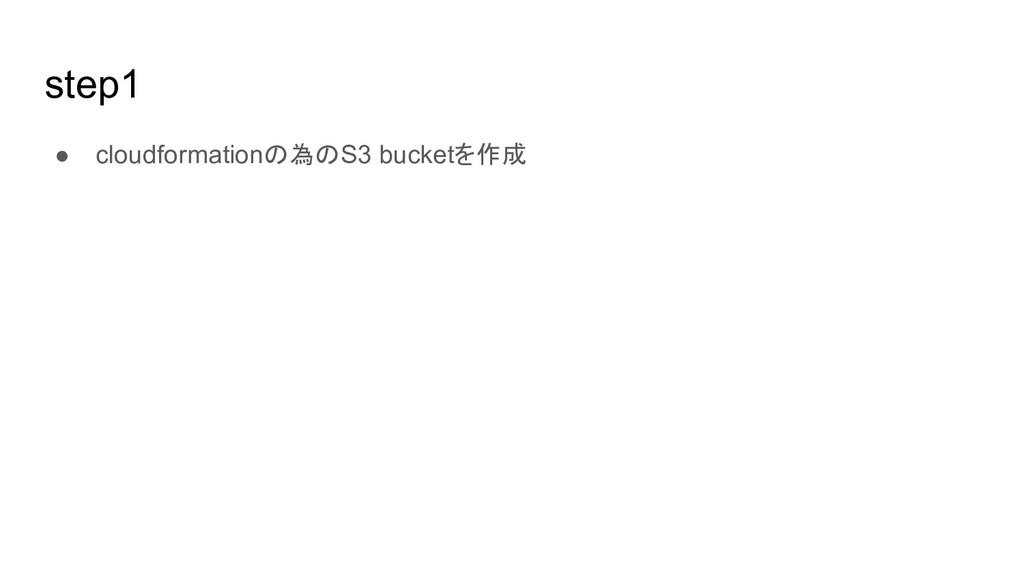 step1 ● cloudformationの為のS3 bucketを作成