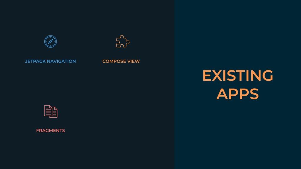 EXISTING APPS JETPACK NAVIGATION COMPOSE VIEW F...