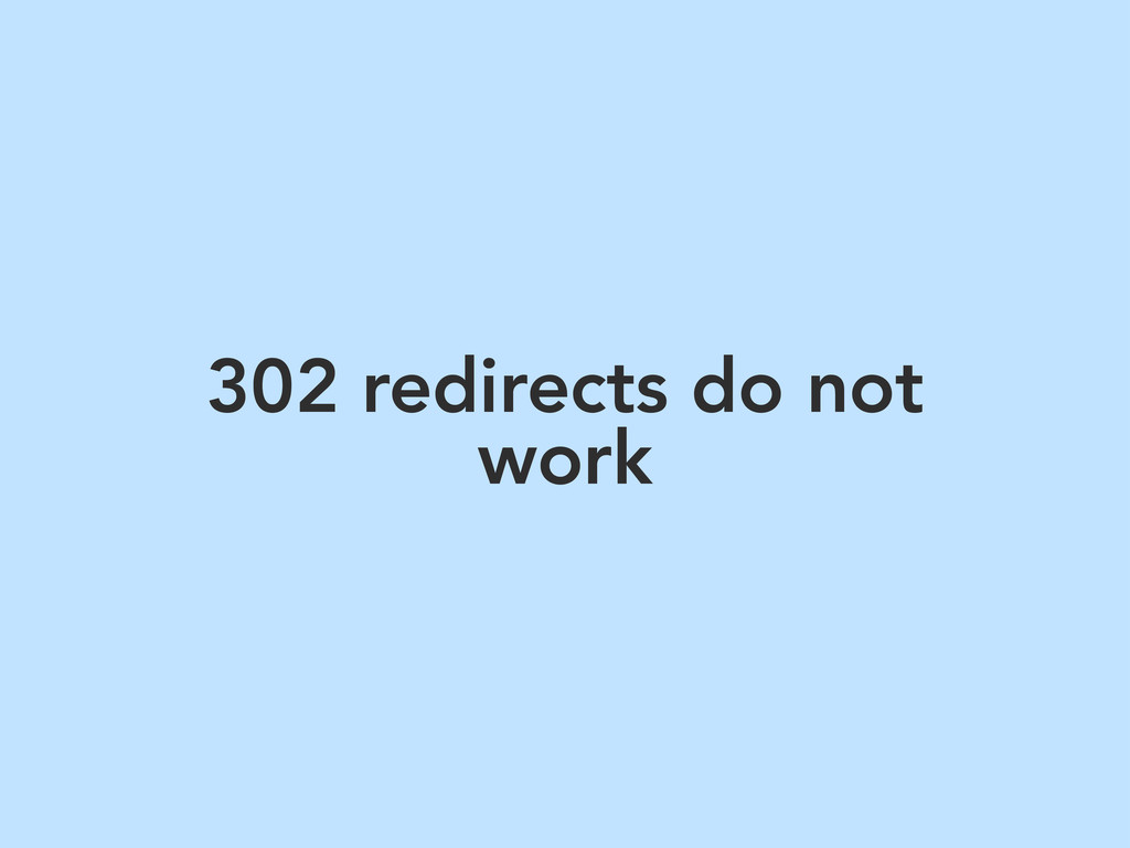 302 redirects do not work