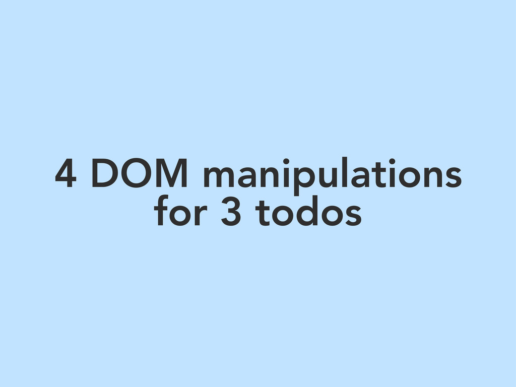 4 DOM manipulations for 3 todos