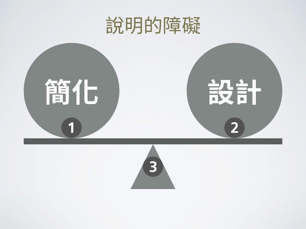 說明的障礙 簡化 設計