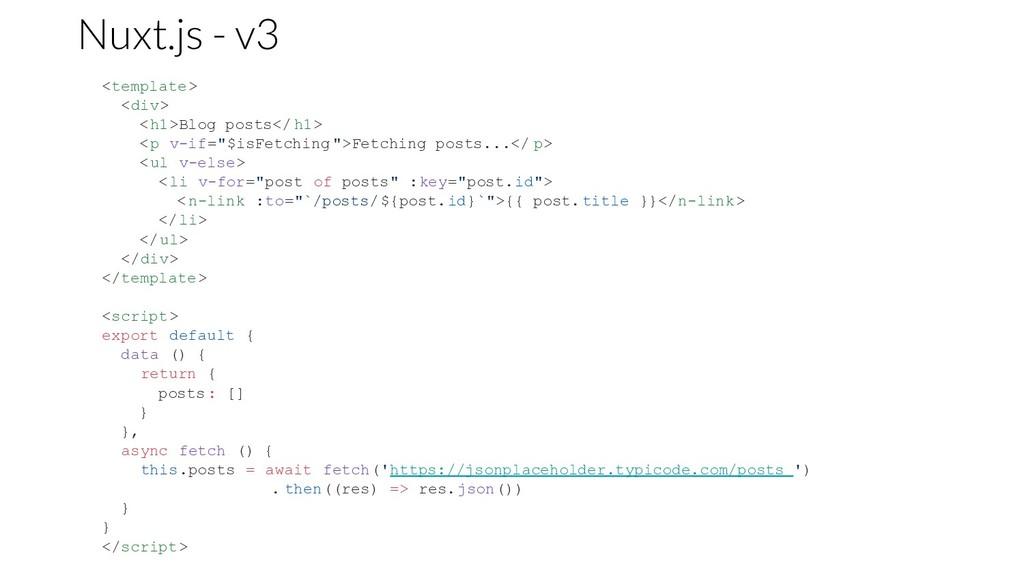 "<template> <div> <h1>Blog posts</ h1> <p v-if=""..."