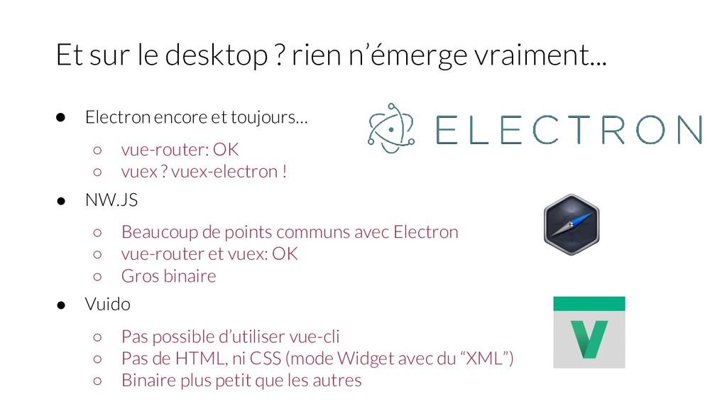 ● Electron encore et toujours… ○ vue-router: OK...