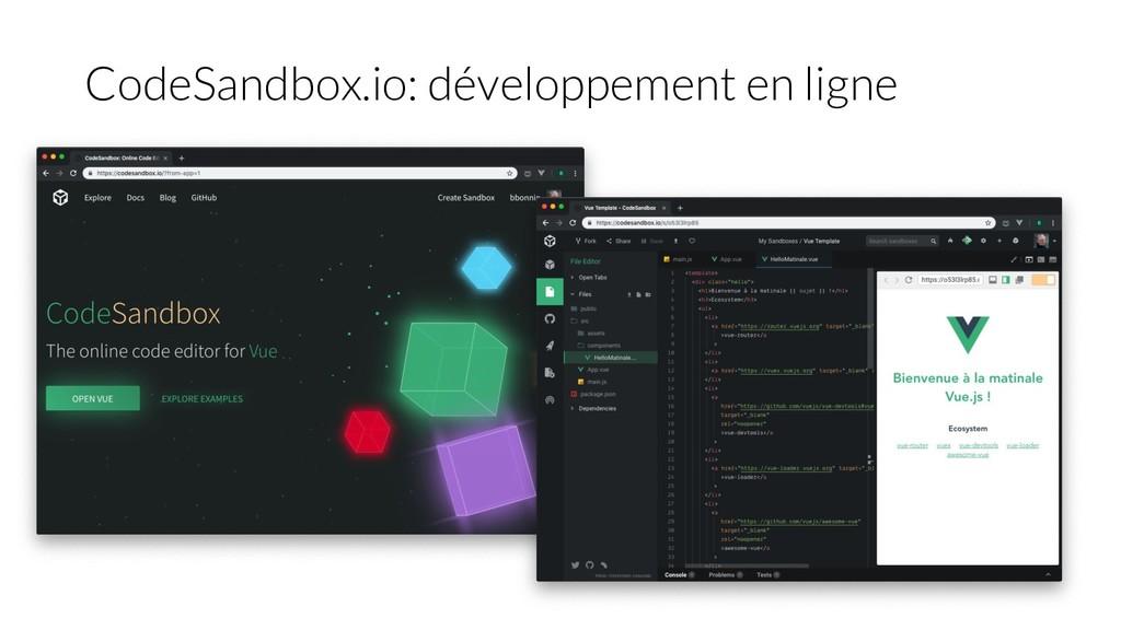CodeSandbox.io: développement en ligne