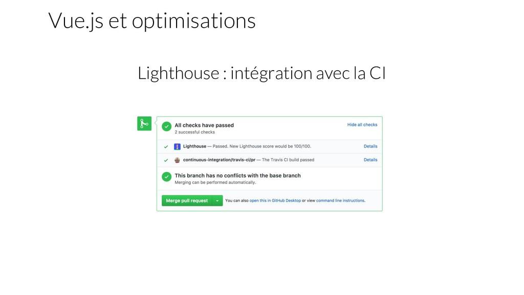 Lighthouse : intégration avec la CI Vue.js et o...