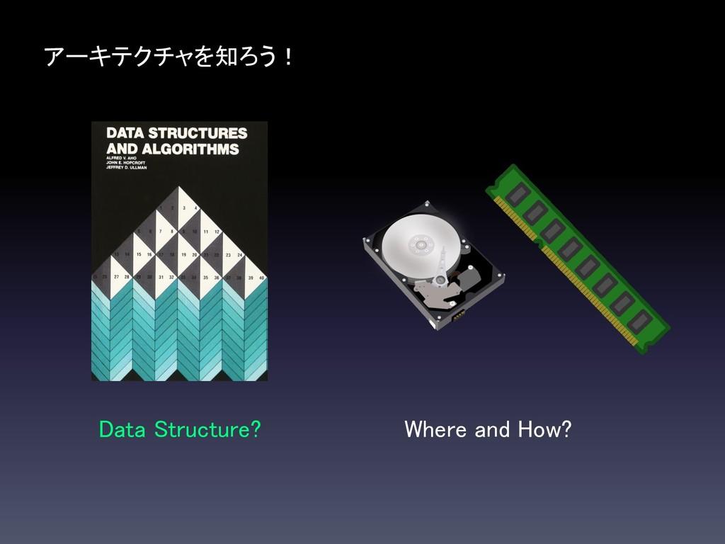アーキテクチャを知ろう! Data Structure? Where and How?
