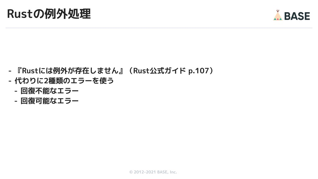 © 2012-2019 BASE, Inc. © 2012-2021 BASE, Inc. R...