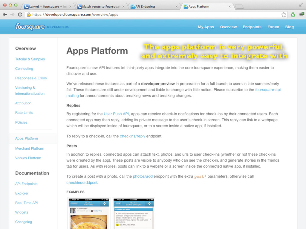 The apps platform is very powerful, and extreme...
