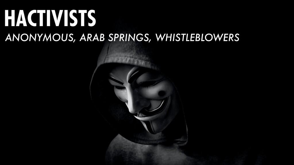 HACTIVISTS ANONYMOUS, ARAB SPRINGS, WHISTLEBLOW...