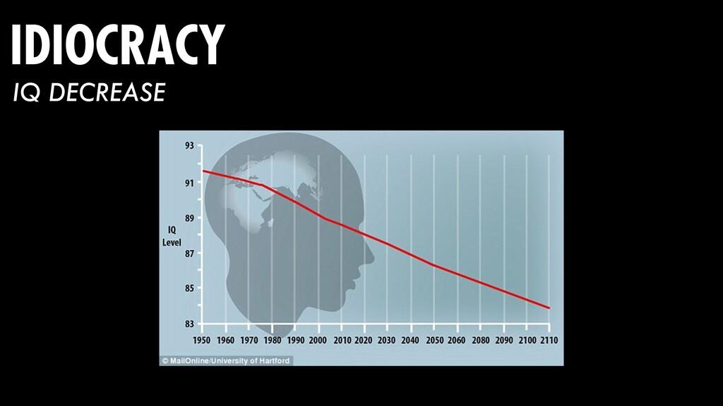 IDIOCRACY IQ DECREASE