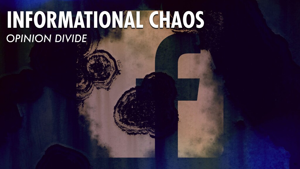 50 INFORMATIONAL CHAOS OPINION DIVIDE