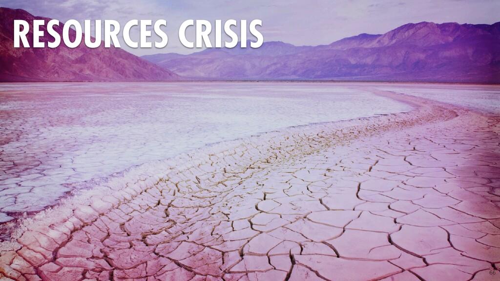 66 RESOURCES CRISIS