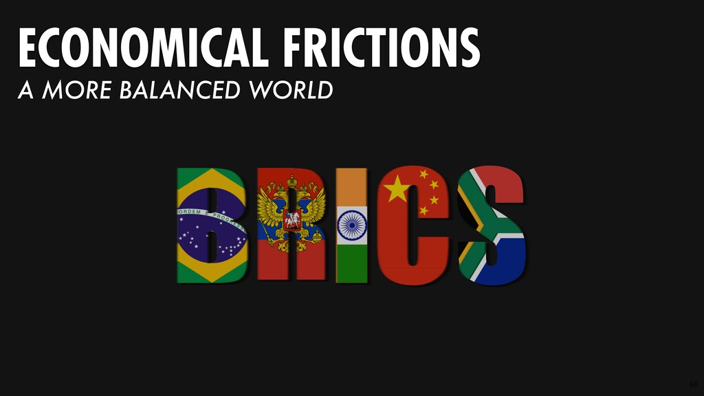 68 ECONOMICAL FRICTIONS A MORE BALANCED WORLD