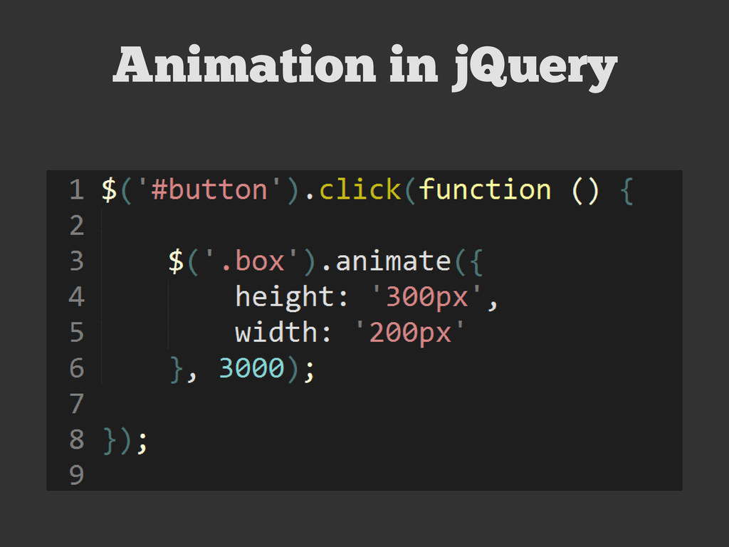 Animation in jQuery