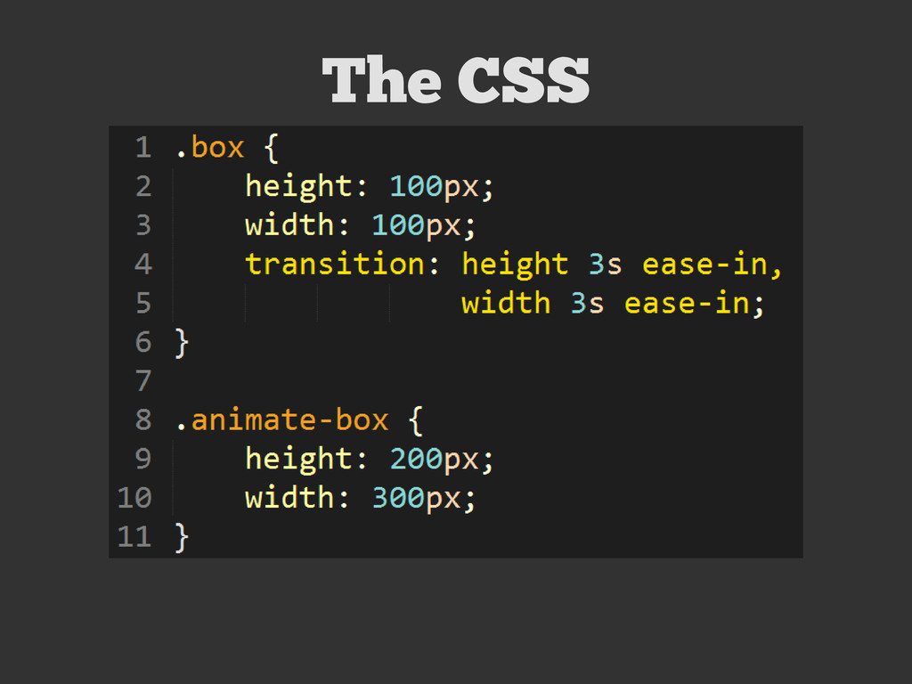 The CSS