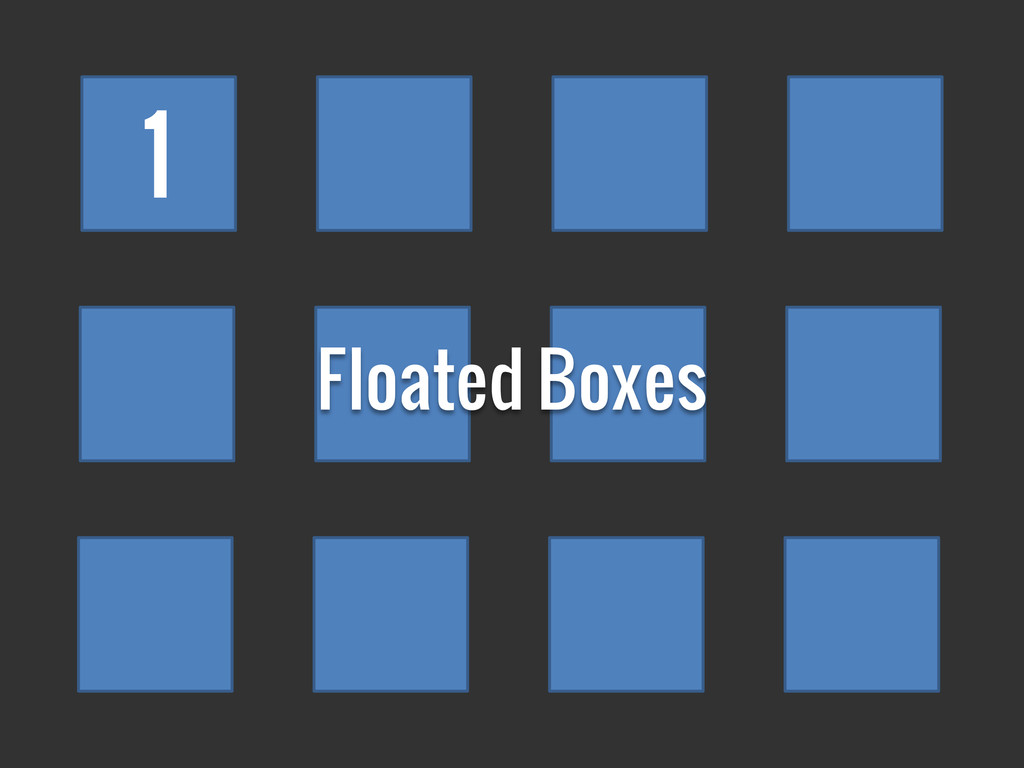 1 Floated Boxes