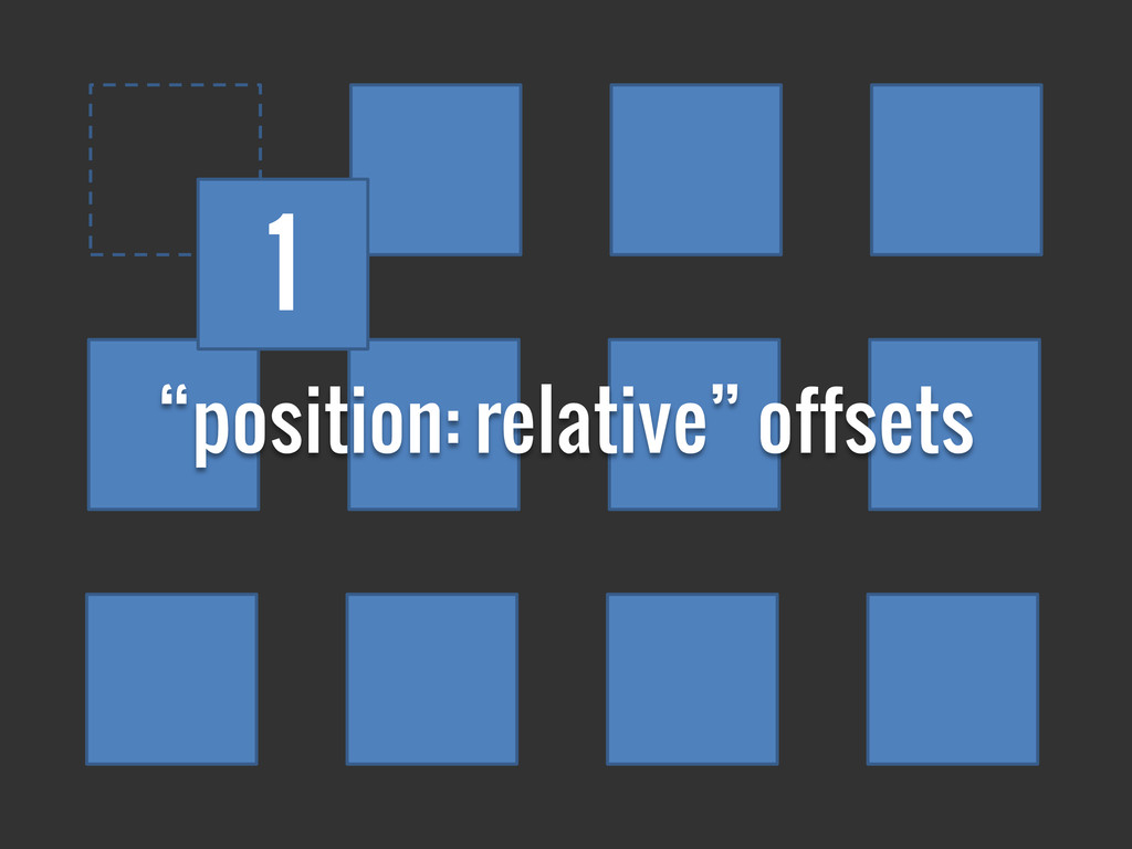 """position: relative"" offsets 1"