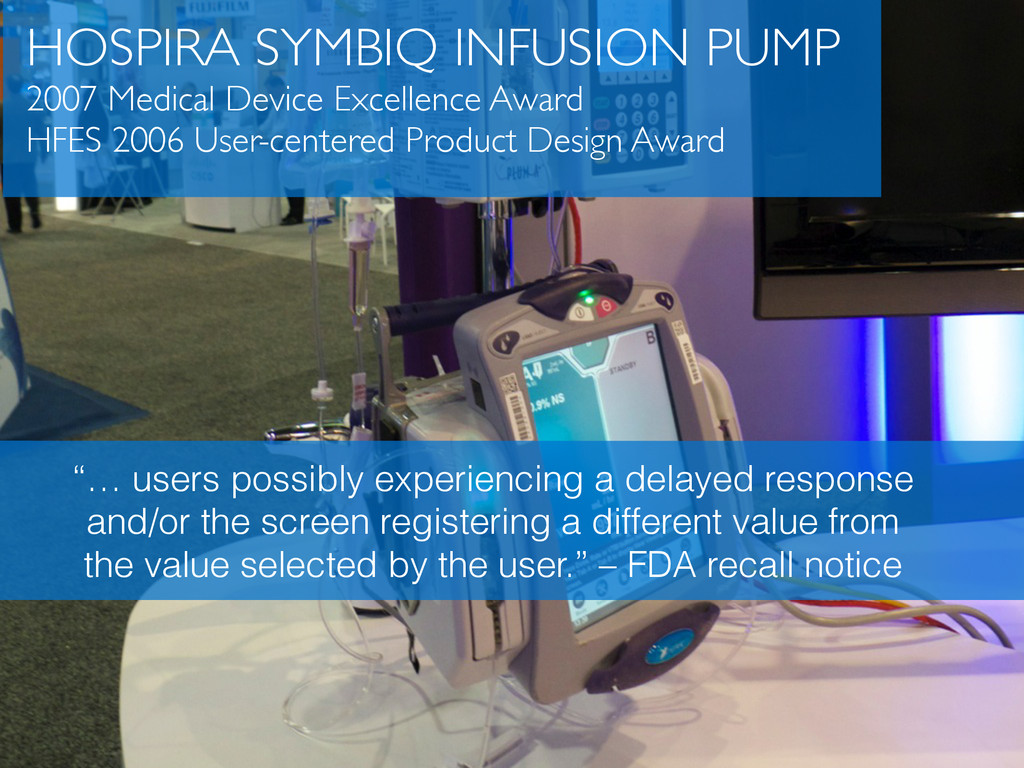 HOSPIRA SYMBIQ INFUSION PUMP	 