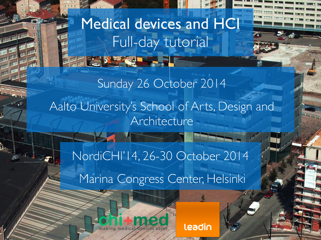 Medical devices and HCI	 