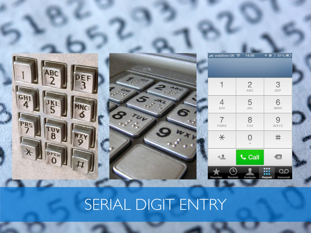 SERIAL DIGIT ENTRY
