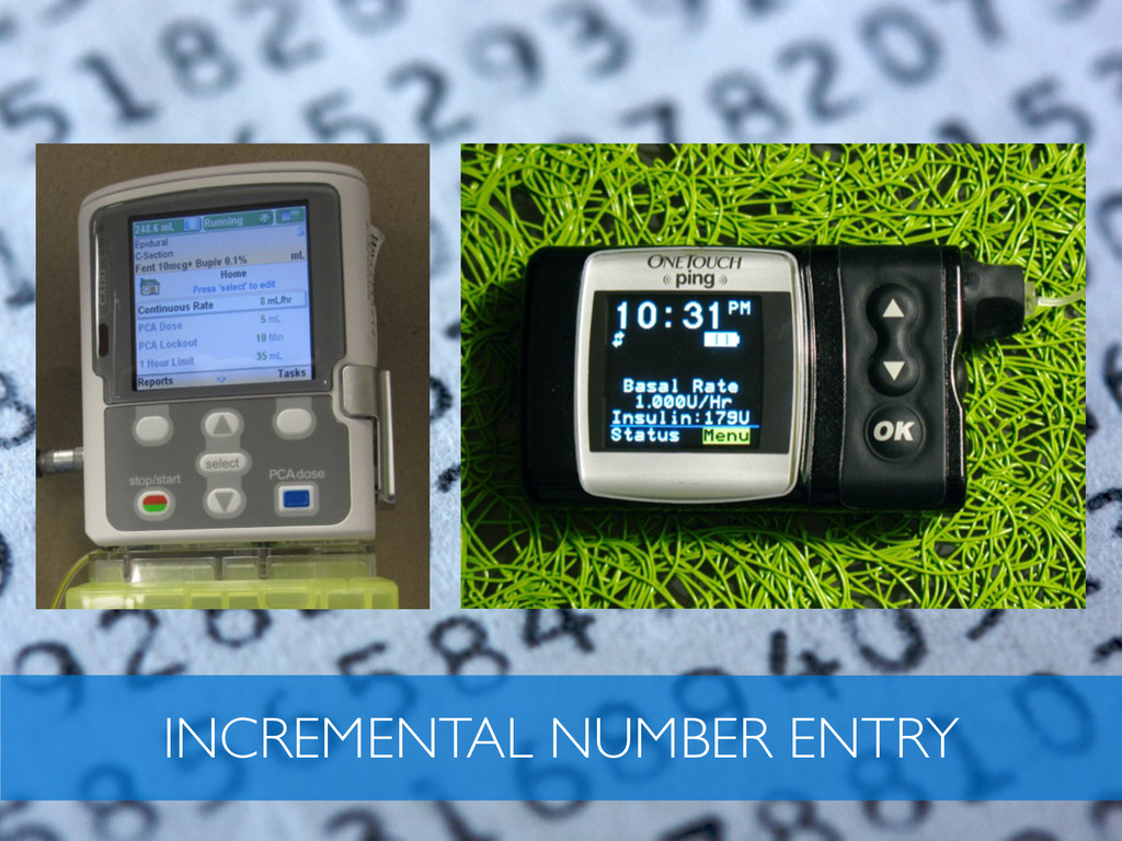 INCREMENTAL NUMBER ENTRY