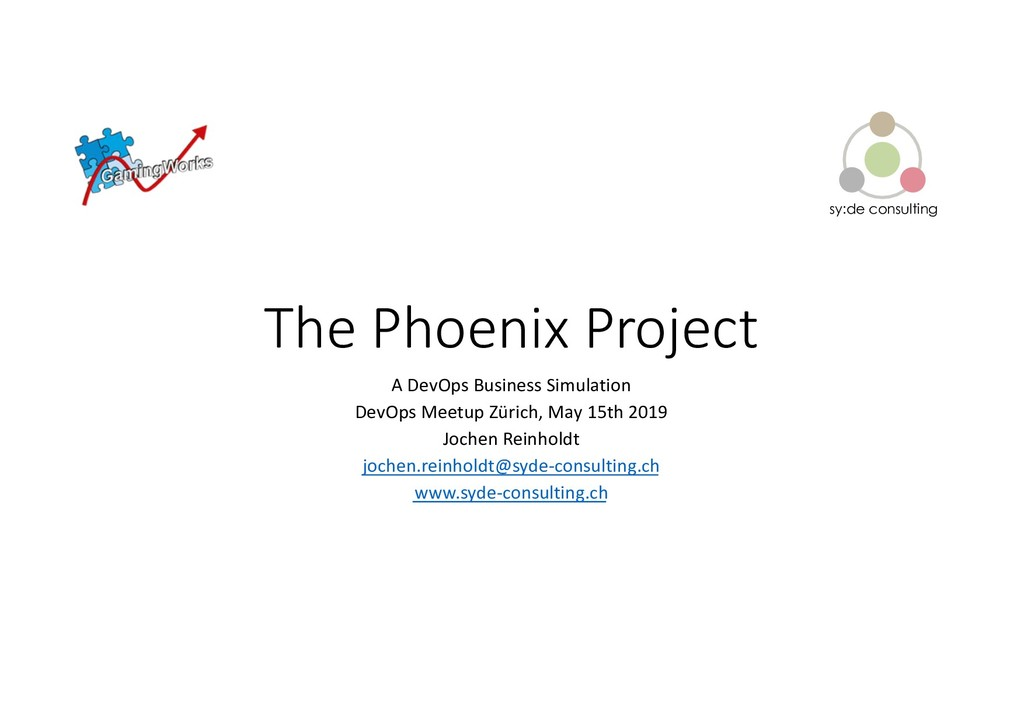 sy:de consulting The Phoenix Project A DevOps B...