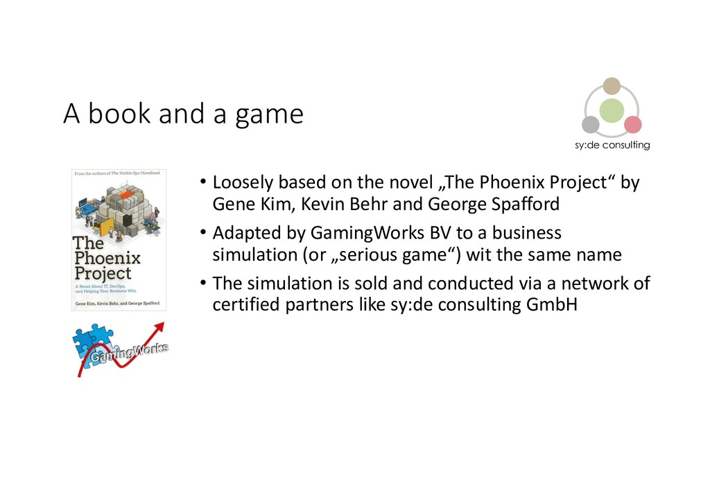 sy:de consulting A book and a game • Loosely ba...