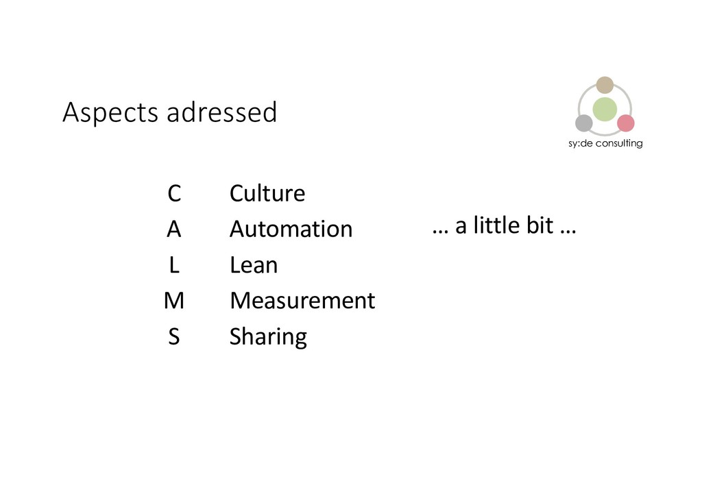 sy:de consulting Aspects adressed C A L M S Cul...
