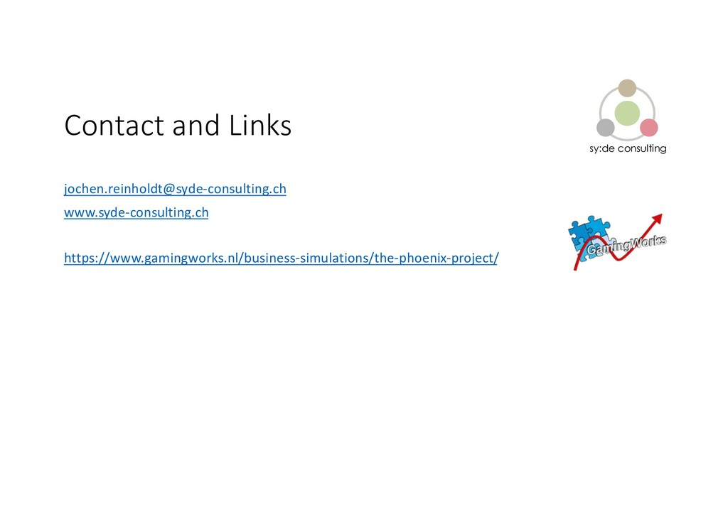 sy:de consulting Contact and Links jochen.reinh...