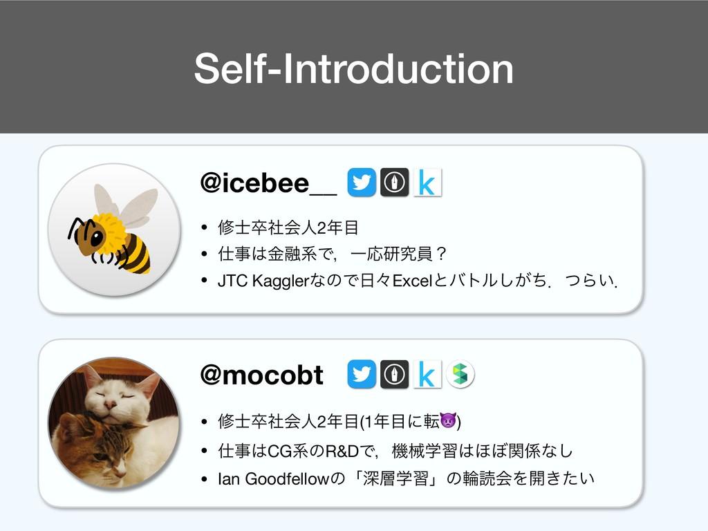 Self-Introduction @mocobt @icebee__ • मଔࣾձਓ2...