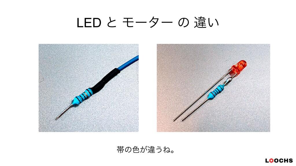 LED ͱ Ϟʔλʔ ͷ ҧ͍ ଳͷ৭͕ҧ͏Ͷɻ