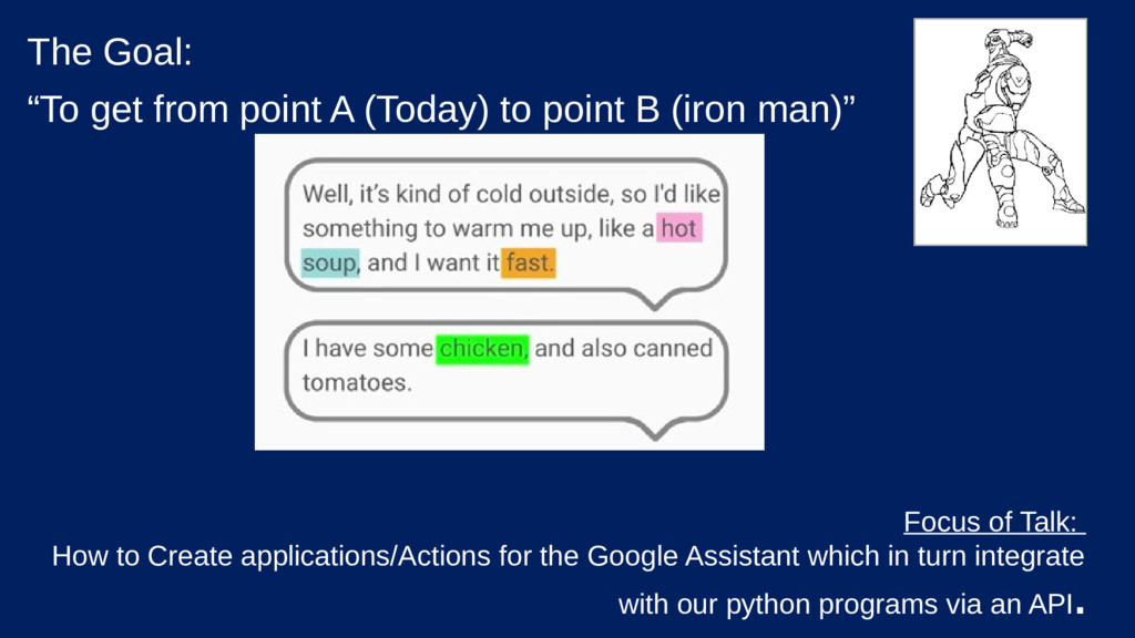 """The Goal: """"To get from point A (Today) to point..."""