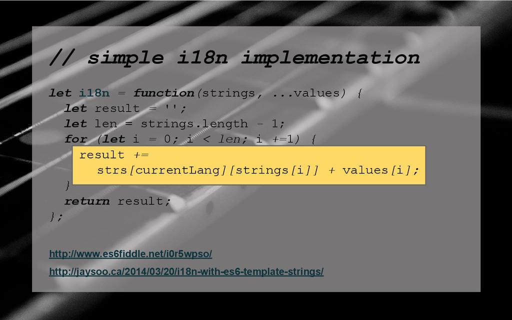 // simple i18n implementation let i18n = functi...
