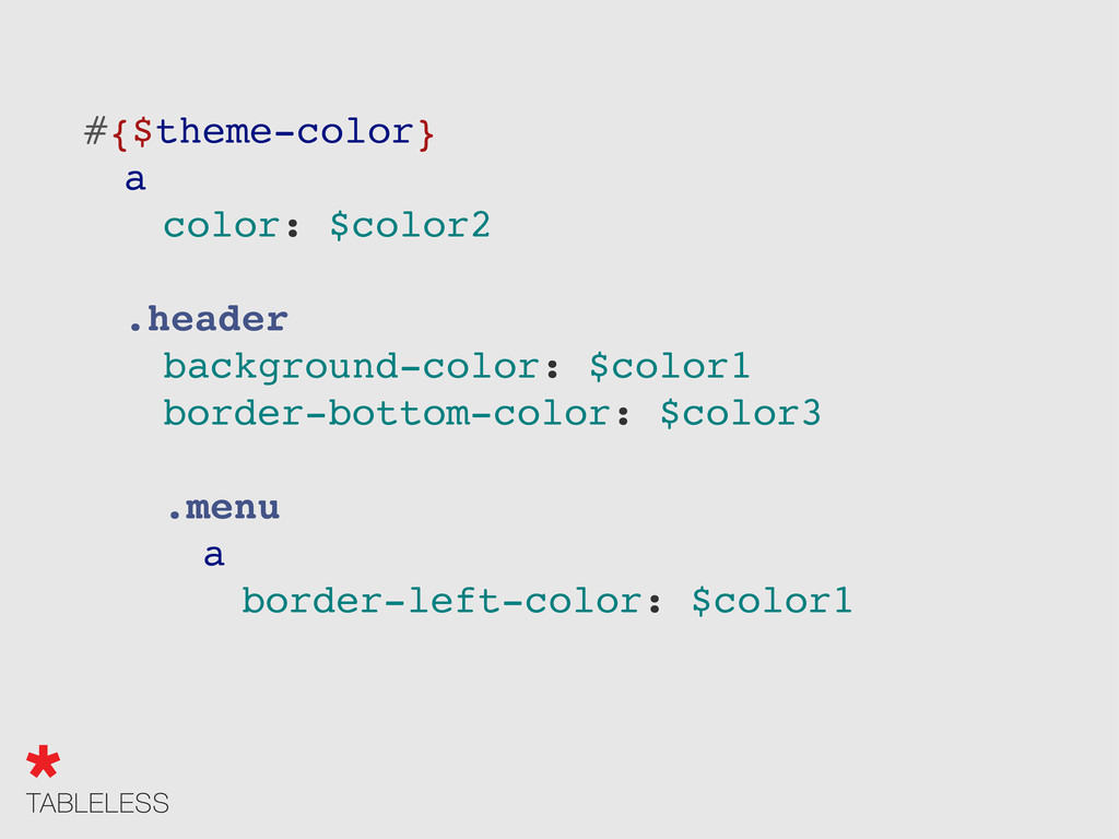 "#{$theme-color} "" a "" "" color: $color2 "" .heade..."